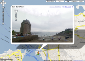 Google street view à Saint Malo