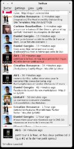 Interface de Twitux