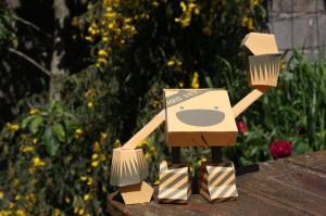 Gammon paper toy