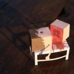 Papercraft coupé en deux